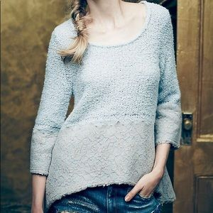 ANTHRO/KNITTED & KNOTTED | Felted Lace Pullover